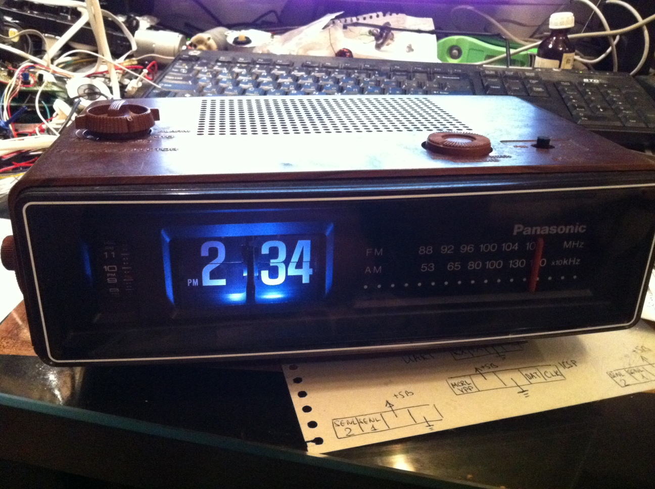 Groundhog day flip clock.JPG